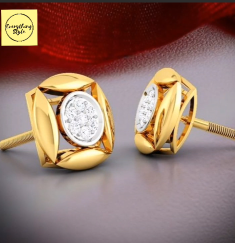 Beautiful Gold Stud and Earring Designs12