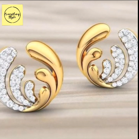 Beautiful Gold Stud and Earring Designs13