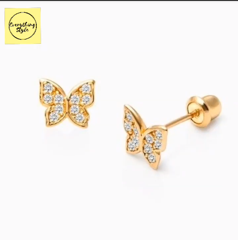 Beautiful Gold Stud and Earring Designs14