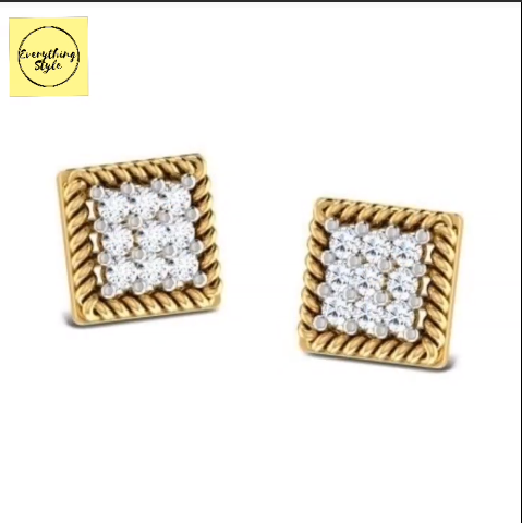 Beautiful Gold Stud and Earring Designs15