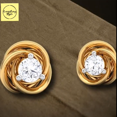 Beautiful Gold Stud and Earring Designs16