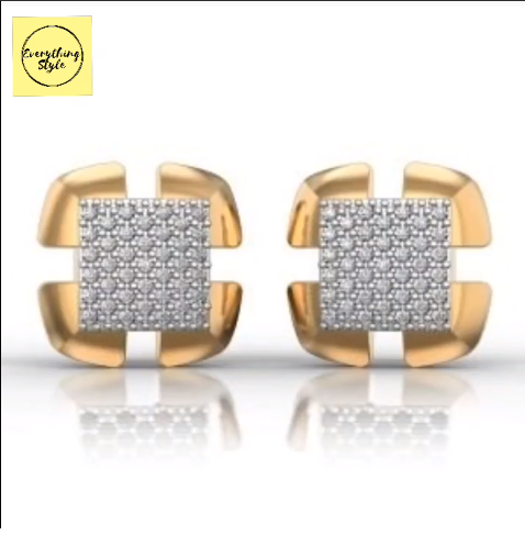 Beautiful Gold Stud and Earring Designs19