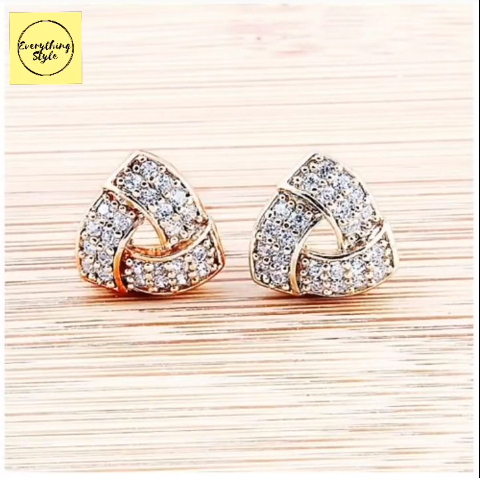 Beautiful Gold Stud and Earring Designs20