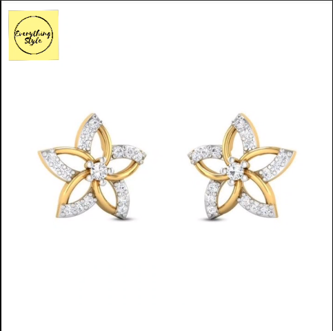 Beautiful Gold Stud and Earring Designs21