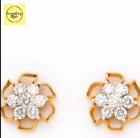 Beautiful Gold Stud and Earring Designs22