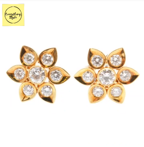 Beautiful Gold Stud and Earring Designs23
