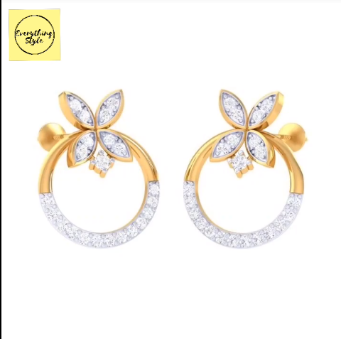 Beautiful Gold Stud and Earring Designs24
