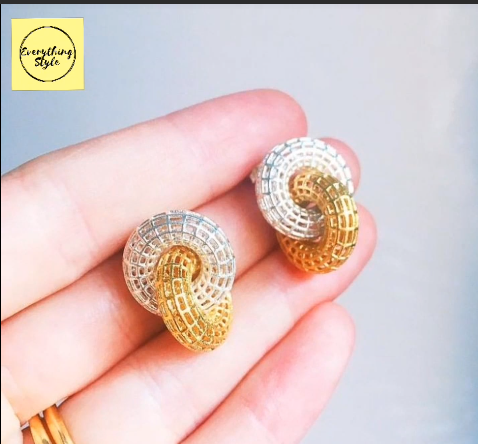 Beautiful Gold Stud and Earring Designs4
