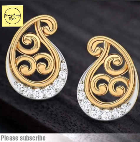 Beautiful Gold Stud and Earring Designs5