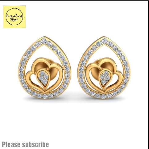 Beautiful Gold Stud and Earring Designs6