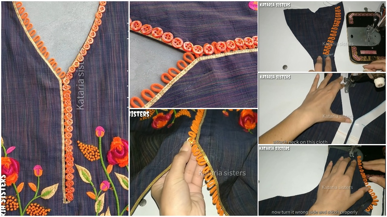 Button Loops Neck Design Making
