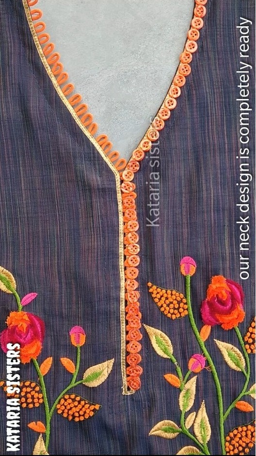 Button Loops Neck Design Making1