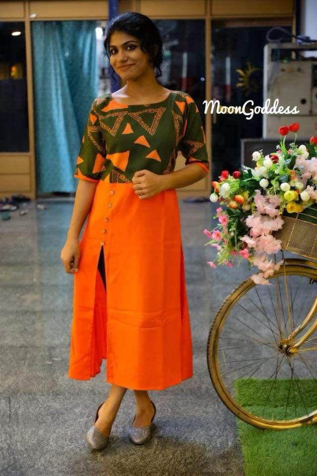 casual orange color dupatta