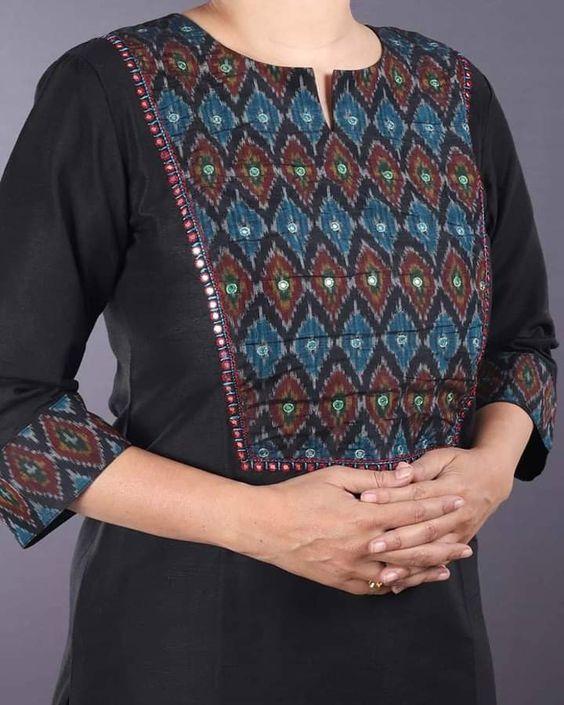 black cotton kurti