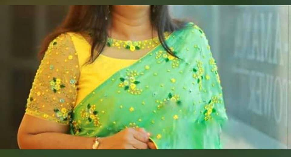yellow blouse design