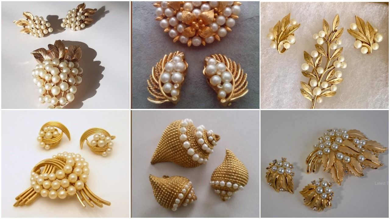 Designer Pearl Earring and Pendant Sets