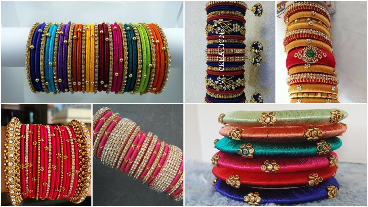 Designer Silk Thread Bangles Designs