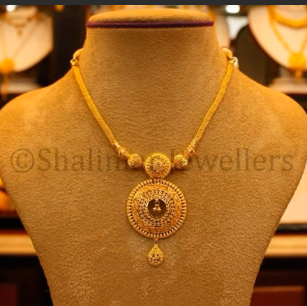 Gold Pendant Designs with Long and Short Chains11