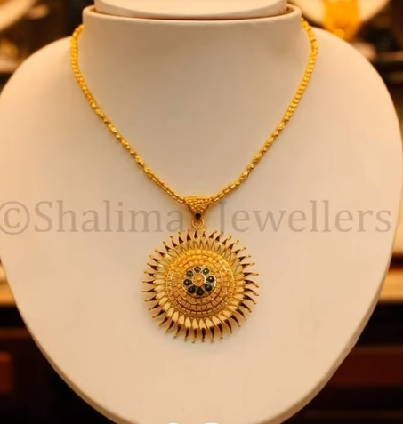 Gold Pendant Designs with Long and Short Chains12
