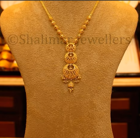 Gold Pendant Designs with Long and Short Chains13