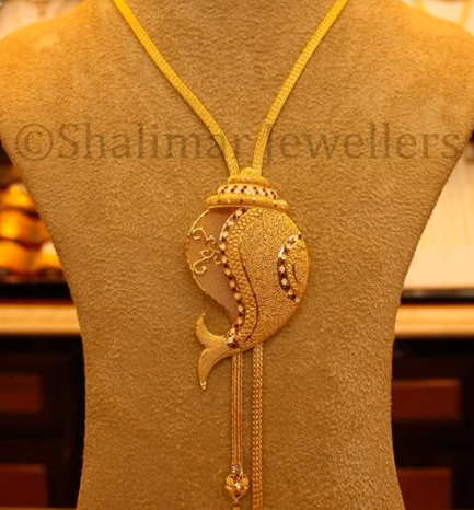 Gold Pendant Designs with Long and Short Chains3