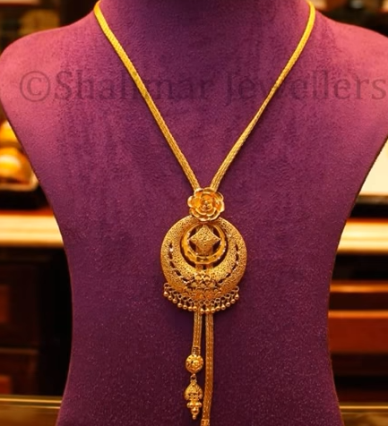 Gold Pendant Designs with Long and Short Chains4