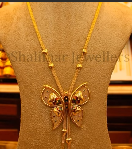 Gold Pendant Designs with Long and Short Chains5