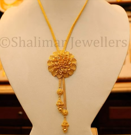 Gold Pendant Designs with Long and Short Chains7