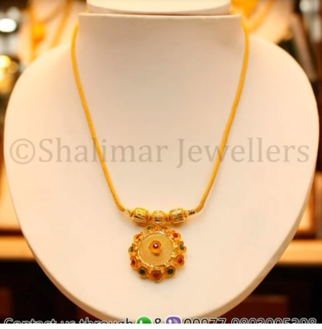 Gold Pendant Designs with Long and Short Chains9