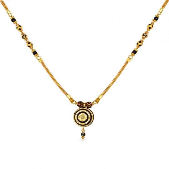 Latest Beautiful Gold Long Mangalsutra Designs15