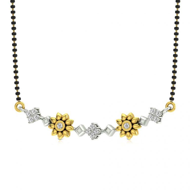 Latest Beautiful Gold Long Mangalsutra Designs3