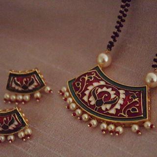 Latest Black Beads Work Mangalsutra Designs15