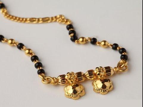 Latest Black Beads Work Mangalsutra Designs19