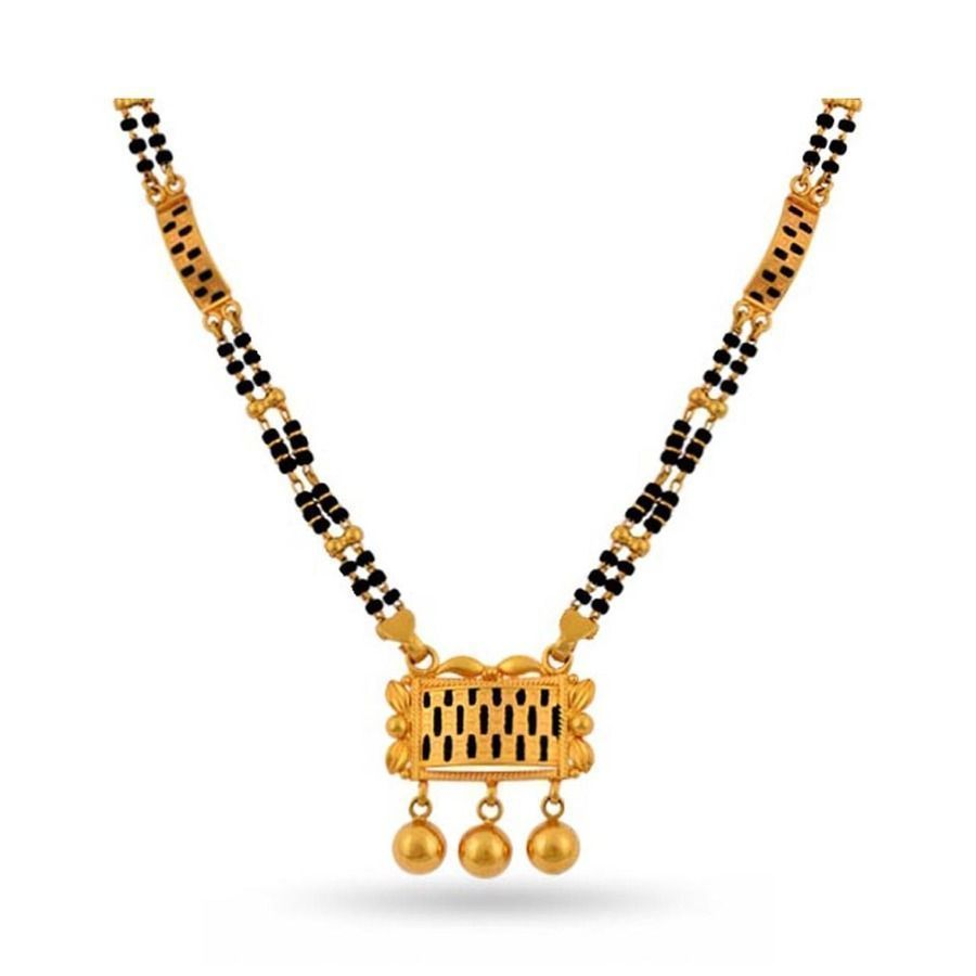 Latest Black Beads Work Mangalsutra Designs3