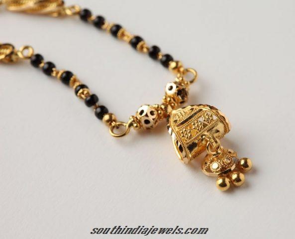 Latest Black Beads Work Mangalsutra Designs6