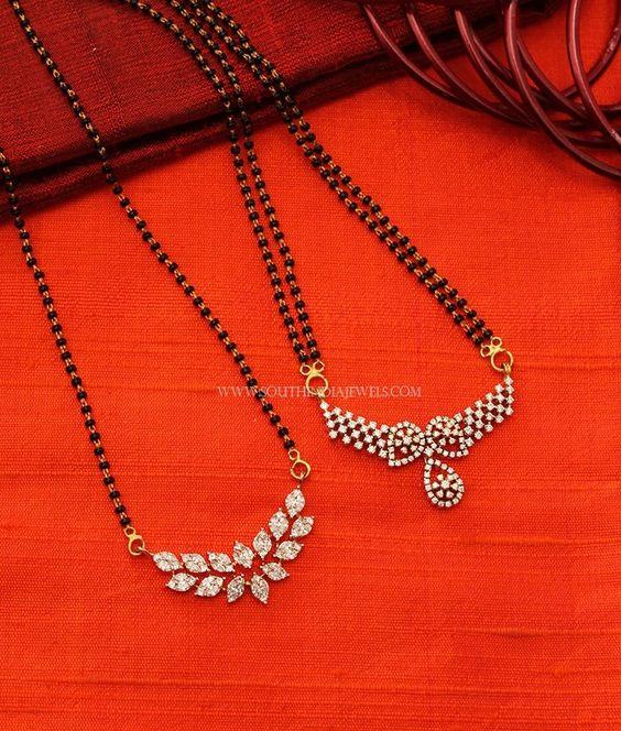 Latest Black Beads Work Mangalsutra Designs8
