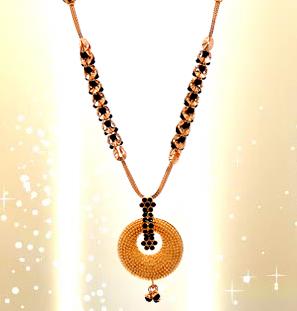 Latest Black Beads Work Mangalsutra Designs9
