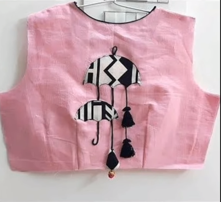 rose sleeveless blouse with back attachments