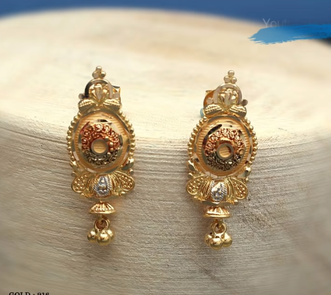 Latest Daily Wear Gold Earring Designs1