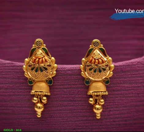 Latest Daily Wear Gold Earring Designs10