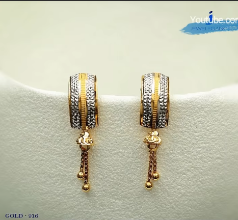 Latest Daily Wear Gold Earring Designs11