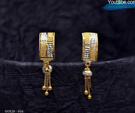 Latest Daily Wear Gold Earring Designs12