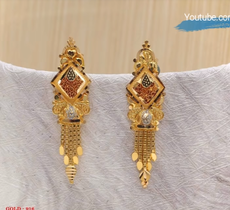 Latest Daily Wear Gold Earring Designs13