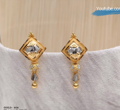 Latest Daily Wear Gold Earring Designs14
