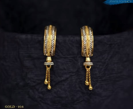 Latest Daily Wear Gold Earring Designs15