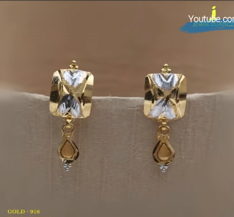 Latest Daily Wear Gold Earring Designs16