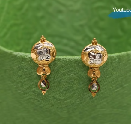 Latest Daily Wear Gold Earring Designs2