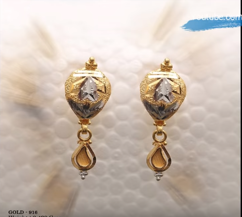 Latest Daily Wear Gold Earring Designs5