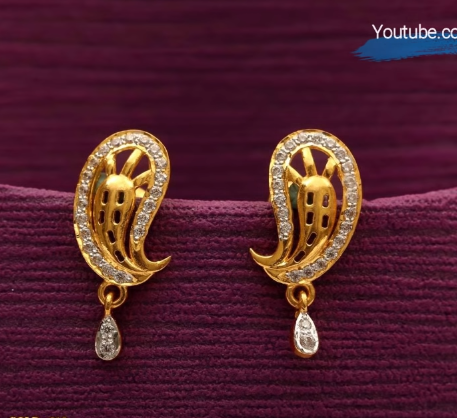 Latest Daily Wear Gold Earring Designs7