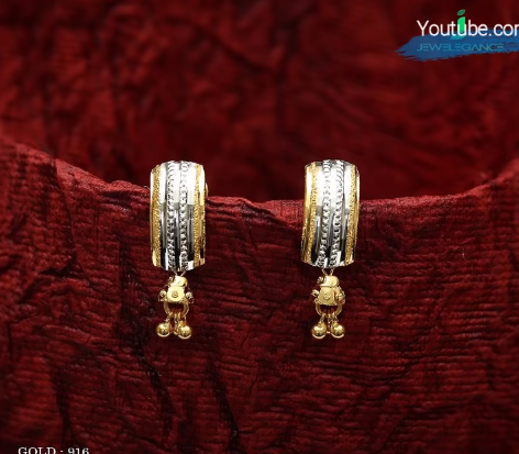 Latest Daily Wear Gold Earring Designs8
